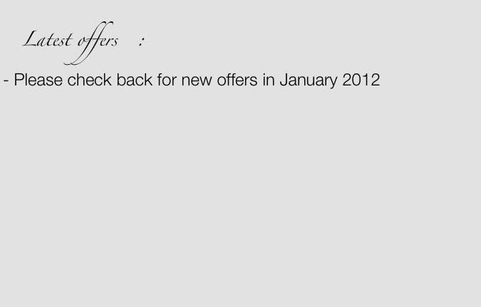 Latest offers   :